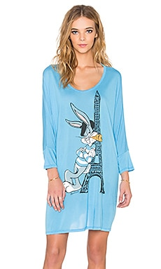 Lauren Moshi Milly Bugs Tower Oversized Dress in Shock Blue