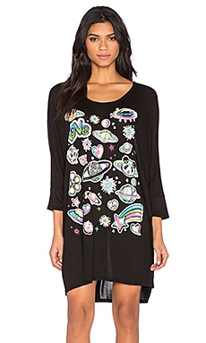 Milly Bright Space Dress in Black