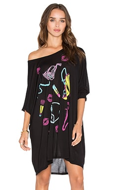 Milly 80's Fashion Oversized Dress en Noir