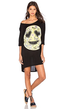 Milly Happy Daze Oversized Dress en Noir