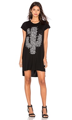 Mirabella Foil Spike Cactus Dress en Noir