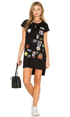 Lauren Moshi Mirabella Short Sleeve Dress in Black