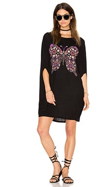 Freida Draped Tunic en Noir