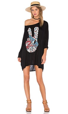 Lauren Moshi Milly Oversized Dress in Black