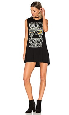 Deanna Pink Floyd Concert Dress in Black