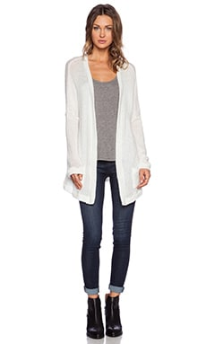 Lauren Moshi Clara Oversized PIns Sweater Cardigan in Natural