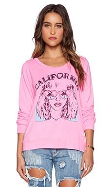 Lauren Moshi Jet Pullover Sweatshirt in Pink