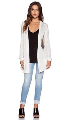 Lauren Moshi Clara Oversized Sweater Cardigan in Natural