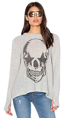 Lauren Moshi Hollis Cashmere Pullover in Heather Grey