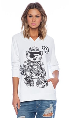 Lauren Moshi Sally Pullover Hoodie in White