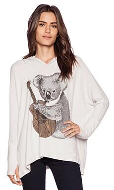 Lauren Moshi Wilma Koala Oversized Pullover with Hood