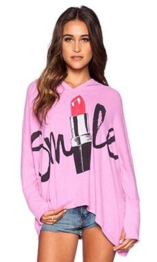 Lauren Moshi Lipstick Smile Wilma Hoodie in Pink Shortcake