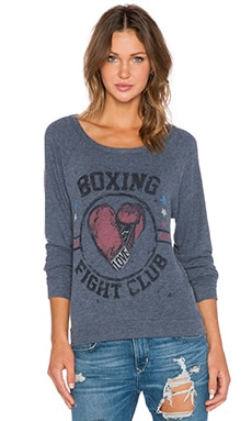 Lauren Moshi Boxing Brenna Sweatshirt in Navy