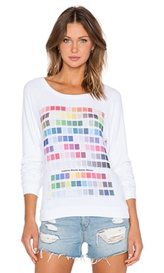 Lauren Moshi Colors Brenna Sweatshirt in White