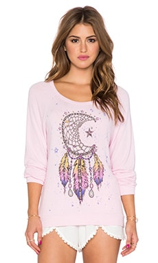 Lauren Moshi Brenna Moon Dreamcatcher Sweatshirt in Tickle Pink