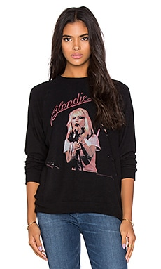 Lauren Moshi Lovie Blondie Boyfriend Pullover in Jet Black