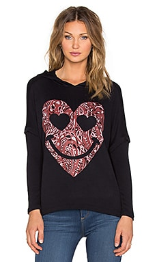 SWEAT À CAPUCHE LOTTA RED BANDANA HEART HOODIE