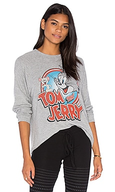 Lauren Moshi Lovie Boyfriend Pullover in Heather Grey