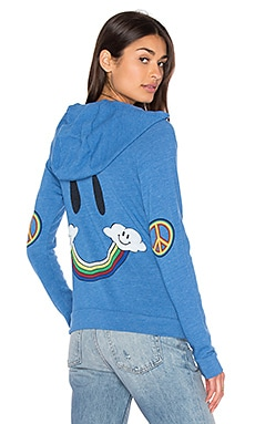 Lauren Moshi Noella Vintage Zip Up Hoodie in Sailor