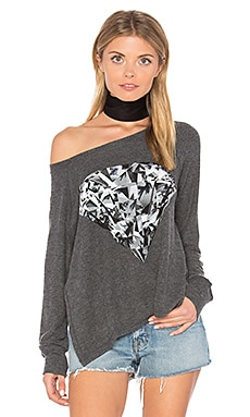 Amor Diamond Pullover in Black