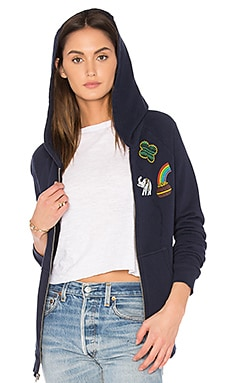 Violet Zip Up Hoodie in Dark Navy Storm