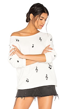 Noleta Music Notes Pullover in Milk