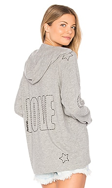 Cali Lace Up Front Hoodie