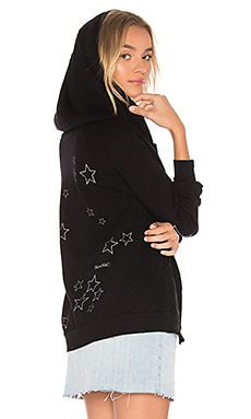 Violet Star Night Zip Up Hoodie