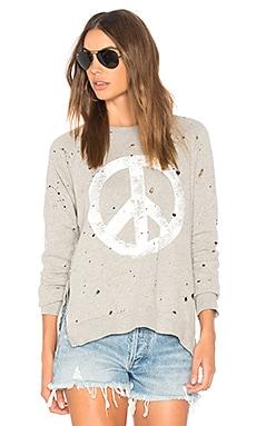 Les Vintage Peace Pullover Sweatshirt