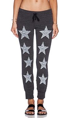 Lauren Moshi Nora Skull Stars Track Pants in Charcoal