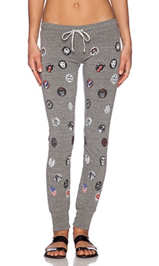 Lauren Moshi Nora Pins Leg Track Pant in Heather Grey