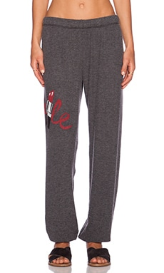 Lauren Moshi Lipstick Smile Tanzy Sweatpant in Black