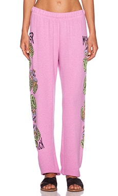 Lauren Moshi Neon Monster Truck Tanzy Sweatpant in Pink Shortcake