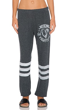 Lauren Moshi Boxing Tanzy Sweatpant in Black