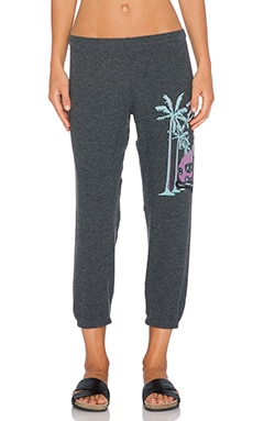 Lauren Moshi Rolls Alana Crop Sweatpant in Black