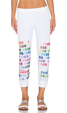 Lauren Moshi Colors Alana Crop Sweatpant in White