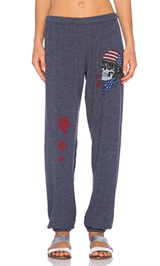 Lauren Moshi Tanzy Color Skull Helmet Sweatpant in Navy