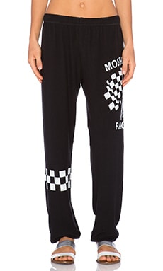 Lauren Moshi Tanzy Moshi Racing Sweatpant in Jet Black