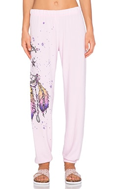 Lauren Moshi Tanzy Large Moon Dreamcatcher Sweatpant in Tickle Pink