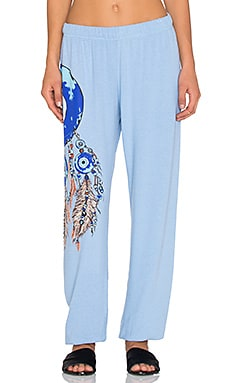 Lauren Moshi Large Evil Eye Dreamcatcher Pant in Vintage Blue