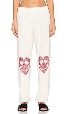 Lauren Moshi Tanzy Happy Heart Leg Long Pant in Silk