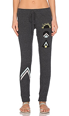 Lauren Moshi Rosa Sunrise Leg Sweatpant in Black