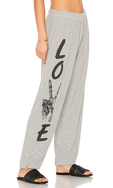 Lauren Moshi Tanzy Long Sweatpant in Heather Grey