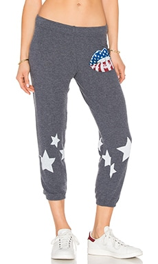 Lauren Moshi Alana Crop Sweatpant in Navy