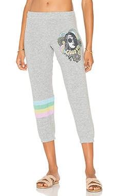 Lauren Moshi Alana Crop Sweatpant in Heather Grey