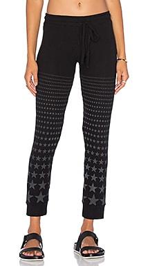 Lauren Moshi Kizzy Classic Sweatpant in Jet Black