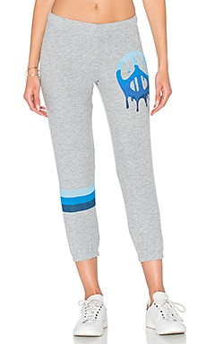 Alana Crop Sweatpant in Heather Grey