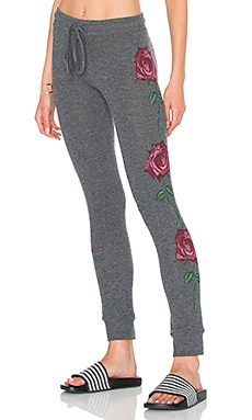 Lauren Moshi Kizzy Classic Sweatpant in Black