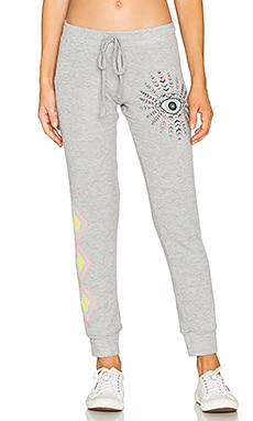 Kizzy Cuffed Sweatpant in Heather Grey