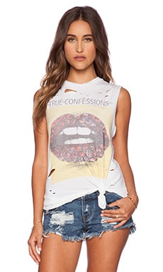 Lauren Moshi Confessions Roxane Muscle Tee in White
